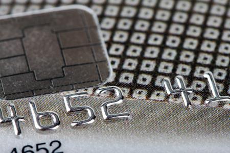 bankcard: macro shot with credit card Stock Photo