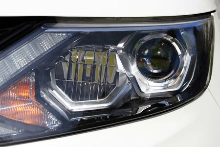 headlights: closeup of car headlight