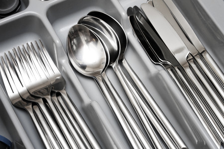 cutlery set Standard-Bild