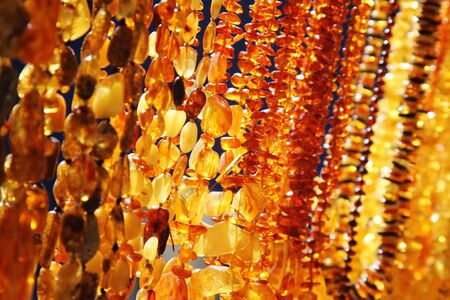 amber: closeup of amber jewelry Stock Photo