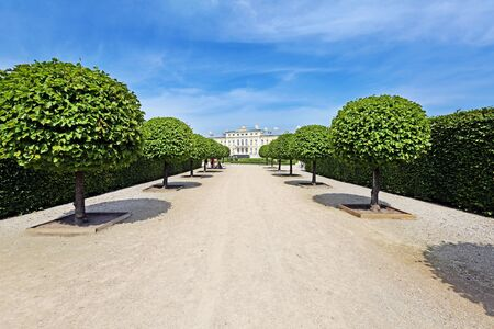 rundale: view from park to the Rundale palace Stock Photo