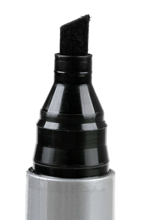 felt tip: closeup of black felt tip marker isolated on a white Stock Photo