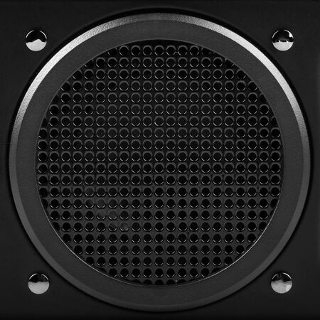 woofer: sound speaker Stock Photo