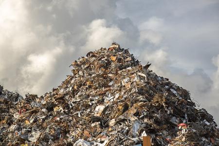 heap of scrap iron