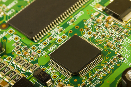 component: closeup of electronic circuit board