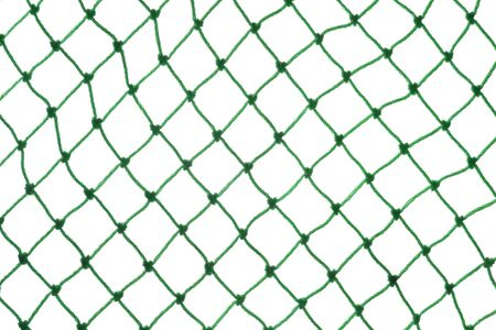 isolated on green: green net on white background Stock Photo