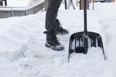 shoveling: shoveling snow