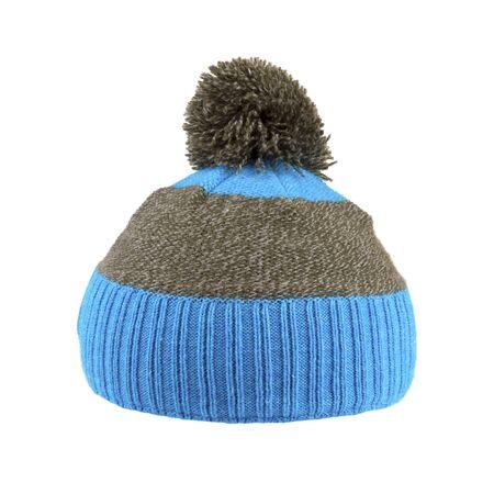 kapelusze: wełniana czapka zimowa wyizolowanych na białym
