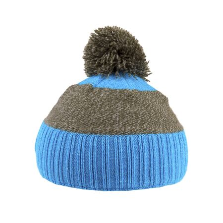 woolen winter hat isolated on white