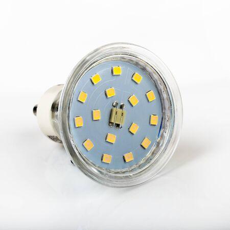 diode: led diode light bulb on white