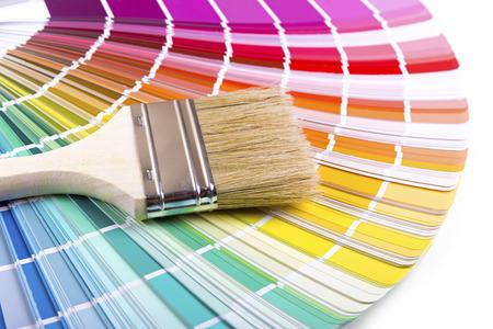 paint: paintbrush on a palette color guide
