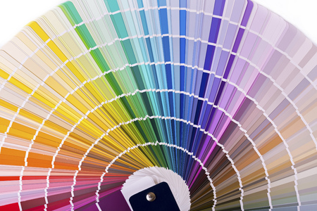 color palette, catalog with design paint samples