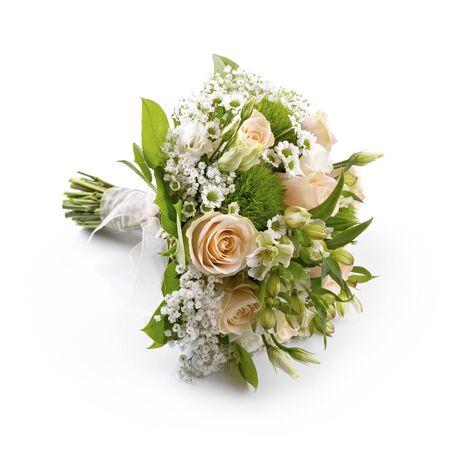 Braut Hochzeit Bouquet isoliert auf weiß