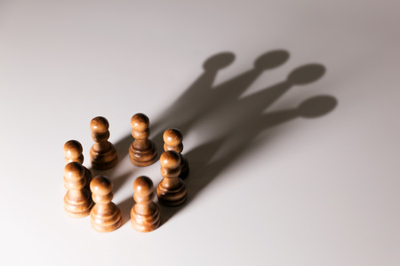 koncepció: üzleti vezető, csapatmunka erő és a bizalom koncepcióját Stock fotó