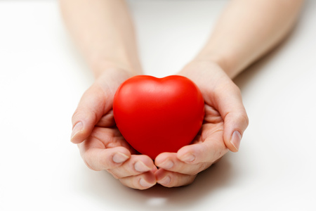 heart care, health insurance or giving love concept