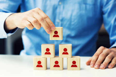 human resources and business hierarchy concept Foto de archivo