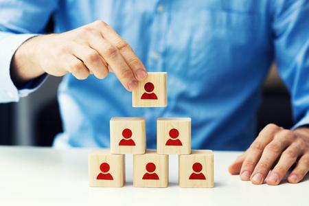 Personalwesen und Business-Hierarchie-Konzept Standard-Bild - 79747227