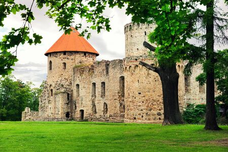 medieval castle in Cesis. Latvia