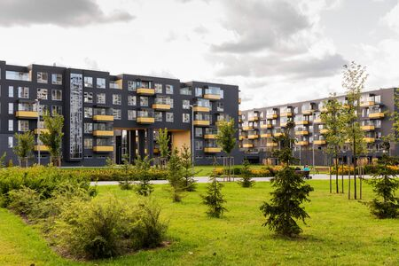 modern urban apartment buildings