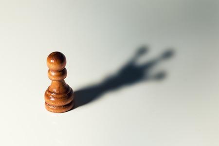 自分を信頼するコンセプト-チェスポーンとキングシャドウ