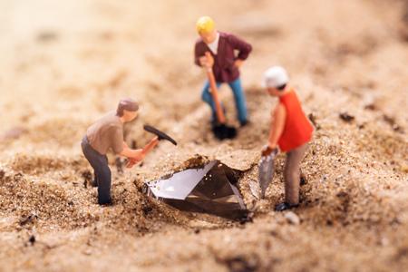 diamond mining and treasure search concept