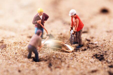 recherche de trésors d'or