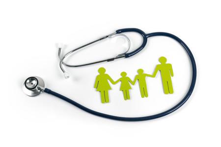Gezinsleven en ziektekostenverzekering concept Stockfoto - 101147388