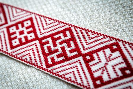 nationale Symbole Lettlands - Nahaufnahme des Lielvarde-Gürtels