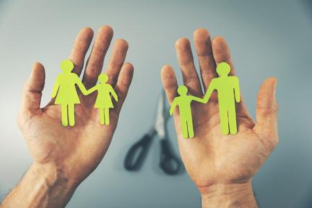 family split after divorce concept Standard-Bild