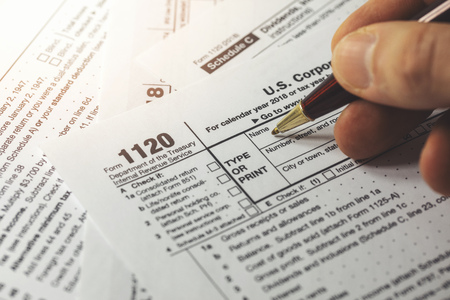 filing corporation income tax return form 1120