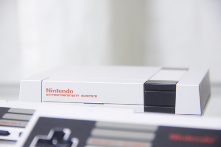 80 s: Nintendo NES Classic Edition with Reflection