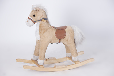 Shaking Pony in White Background for childhood memories