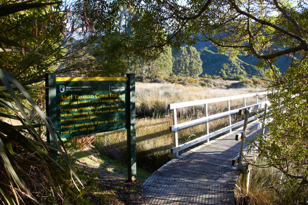 Entrance of Abel Tasman Coast Track Stock Photo