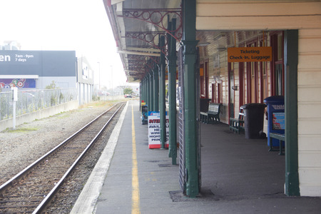 GREYMOUTH, NEW ZEALAND, 4 JUNE 2017: Railway station in the town Editorial
