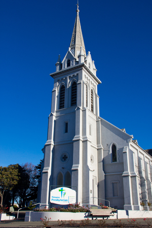 Church at New Zealand with blue sky