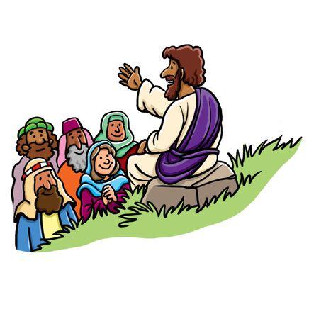 Jesús enseña a los seguidores