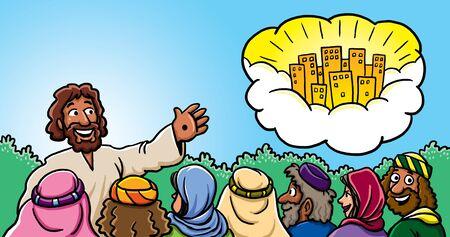 Jesus teaching about Heaven