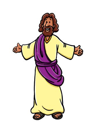 Jesus with arms open Stock Photo