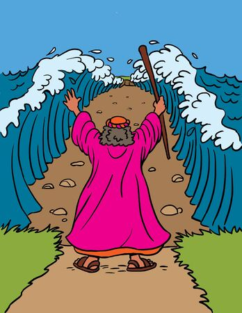 Moses Parts the Red Sea Stockfoto