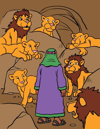 Daniel in Den Surrounded by Lions