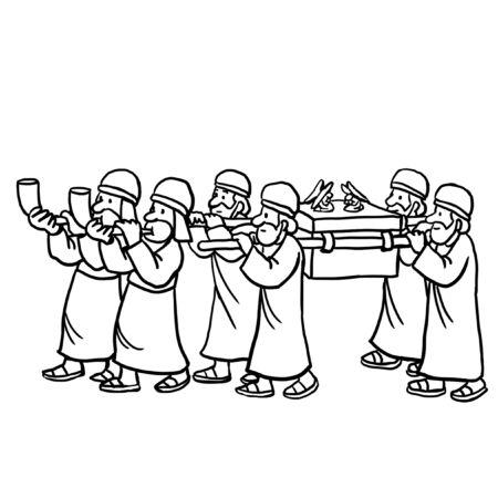 Priester, die die Bundeslade tragen