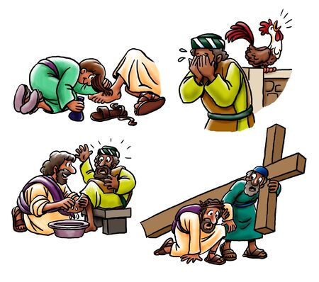 Scenes from the New Testament Фото со стока