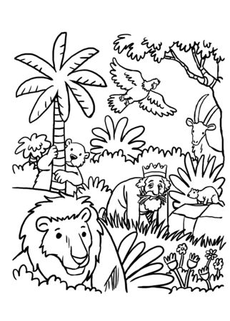 Coloring Page of Nebuchadnezzar