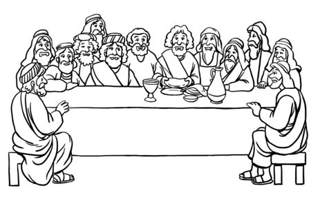 Coloring Page of the Last Supper