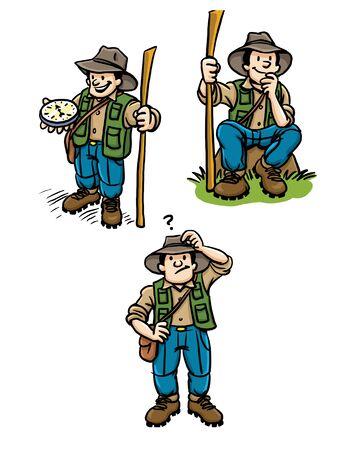 Various Poses of an Explorer