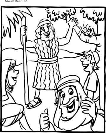 Coloring Page John the Baptist