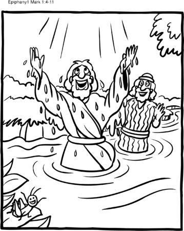 Coloring Page Jesus' Baptism