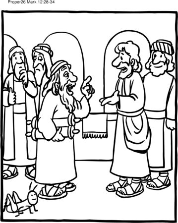Coloring Page Jesus Teaching Greatest Commandment