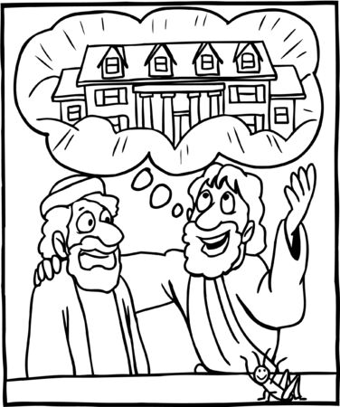 Coloring Page Jesus Teaching about the Kingdom of Heaven