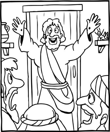 Coloring Page of Jesus Alive Again